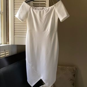 Charlotte Russe White off the shoulder dress